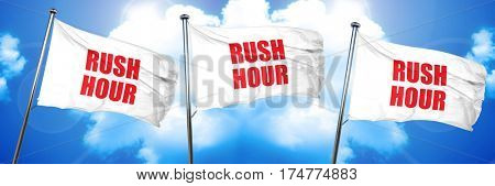 rush hour, 3D rendering, triple flags
