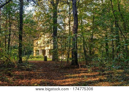 Monza (Brianza Lombardy Italy): the park at fall (october) historic Cantone Mill