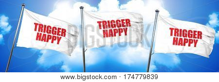 trigger happy, 3D rendering, triple flags