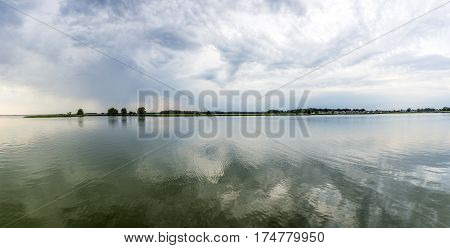 Panorama Of Backwater On The Island Of Usedom, Germany
