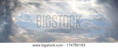 Scenic Dark Clouds With Sun