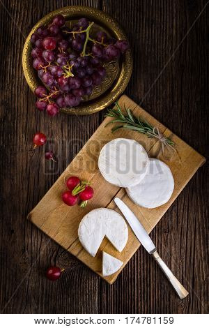 Cheese, Radish, Grapes And Herbs