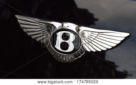 Bentley Logo On A Car In Amsterdam