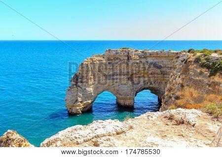 The coastline of the Algarve in Albufeira