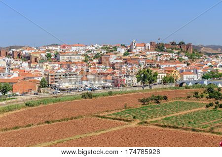 View of the village of Silves in the Algarve Portugal