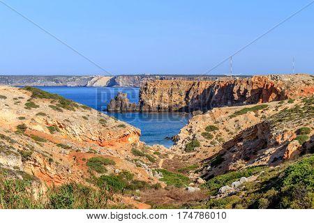 The coastline of the Algarve in Sagres