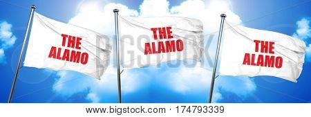 the alamo, 3D rendering, triple flags