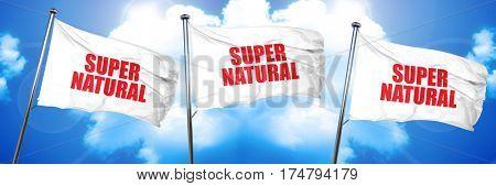 supernatural, 3D rendering, triple flags poster