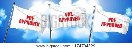 pre approved, 3D rendering, triple flags