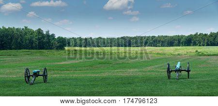 Cannons on the Malvern Hill Battlefield, Virginia