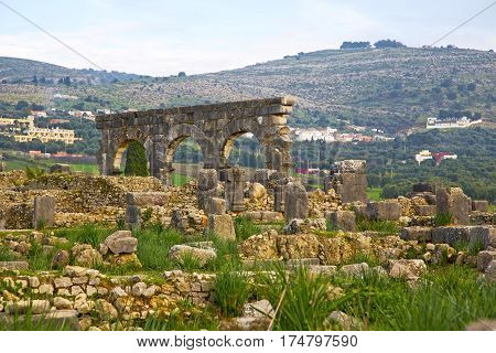 Volubilis In Morocco Africa The