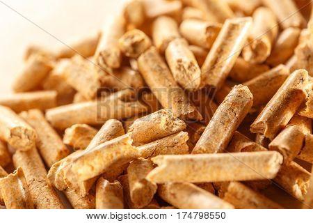 Wooden Pellets On Paper