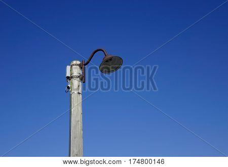 Street Lamppost Under Blue Sky In The Winter