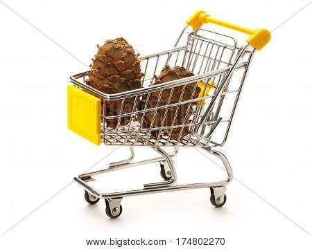 Market Pushcart With Cones