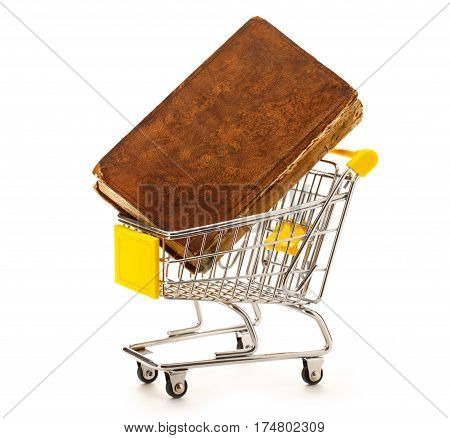 Market Pushcart With Book