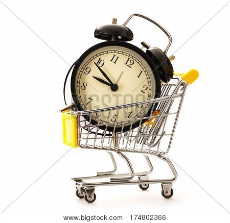 Market Pushcart With Clock