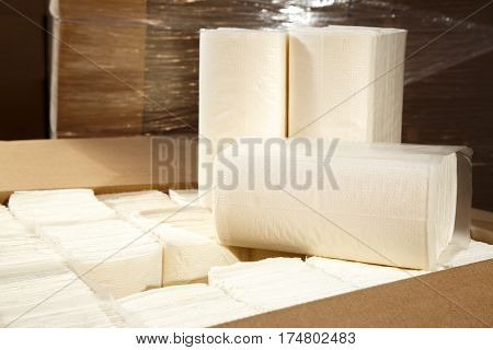 Paper Napkins And Towels Packed