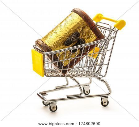 Closed Treasure Chest In Pushcart