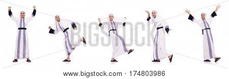 Arab man isolated on the white