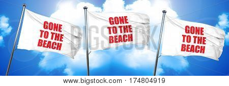gone to the beach, 3D rendering, triple flags
