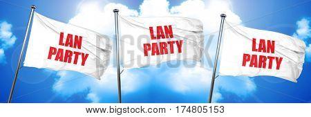 lan party, 3D rendering, triple flags