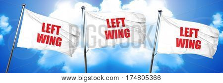 left wing, 3D rendering, triple flags