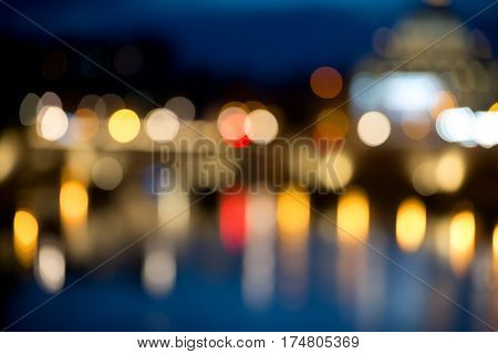 Abstract circular bokeh background of Vatican in Italy