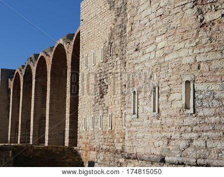 External Walls Of An Ancient Fort Of World War I In Italy