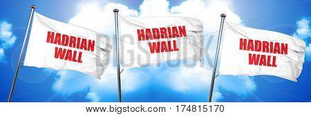 hadrian wall, 3D rendering, triple flags