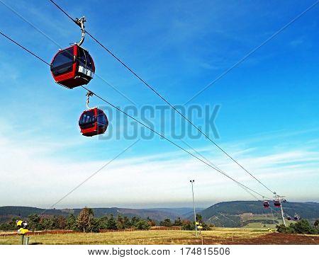 Ettelsberg cable car in Willingen in Germany