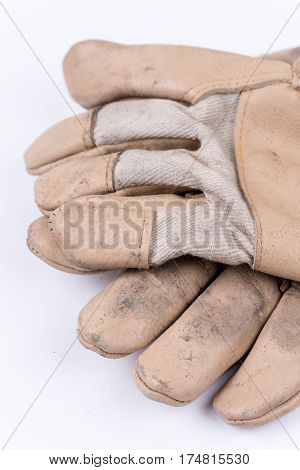 Working Gloves For Protection Over White