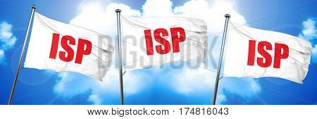 isp, 3D rendering, triple flags poster
