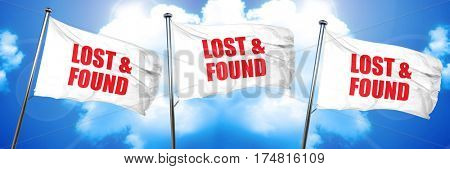lost and found, 3D rendering, triple flags
