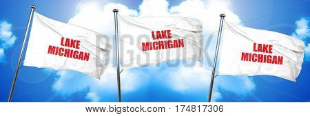lake michigan, 3D rendering, triple flags