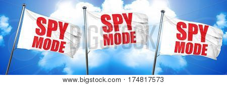 spy mode, 3D rendering, triple flags