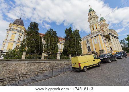 Uzhgorod Ukraine - April 27 2016: Ruthenian Catholic Church