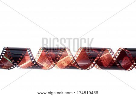 the negative filmstrip for old analog photo