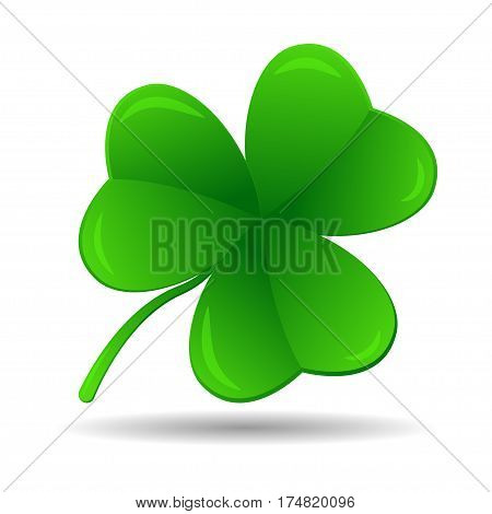 Four leaf clover, vector illustration, St. Patrick's day