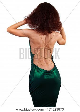 Woman showing a figure. Ageless Female Body Over 40