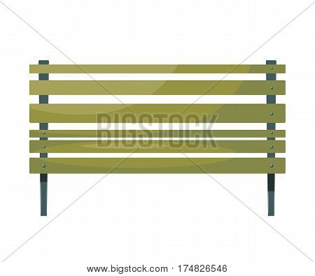 Illustration of the green benches. Vector image of a green park bench on a white background. urban design element. Cartoon. Stock vector illustration