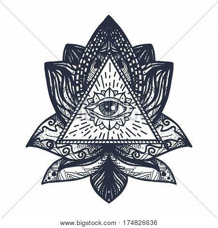 Eye On Lotus Tattoo