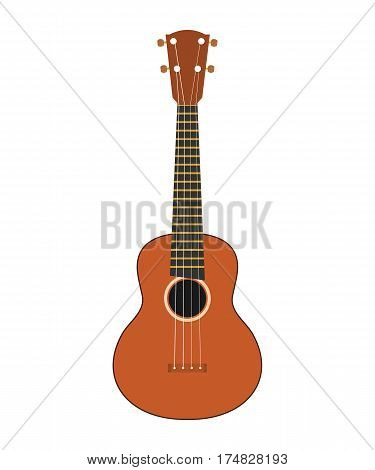 Hawaiian guitar on a white background, Isolated on white background