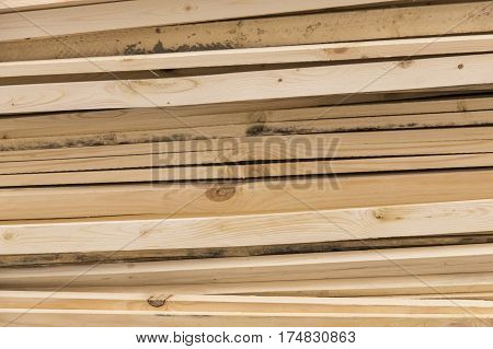 Image Of Stacks Of Lumber . Horizontal Shot.