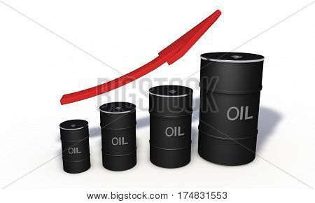 Raise Of Petrol Price, Background 3D Render