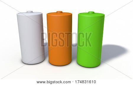 Background Of Battery Model, Front View 3D Render