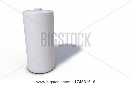 Background Of Battery Model, Left View 3D Render