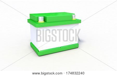 Background Of Rechargeable Battery, 3D Render