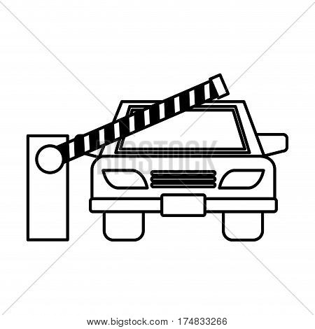 parking zone entrance barricade vector illustration design