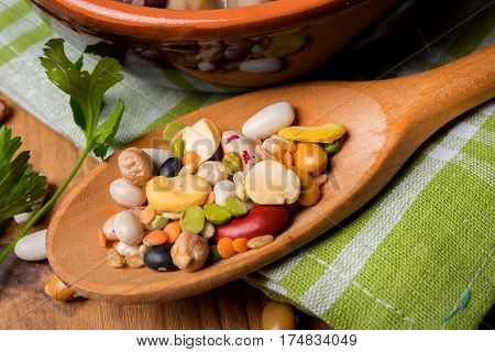 Vegetable Mix With Cereals And Legumes