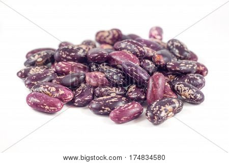 Colorful Beans Isolated On White Background